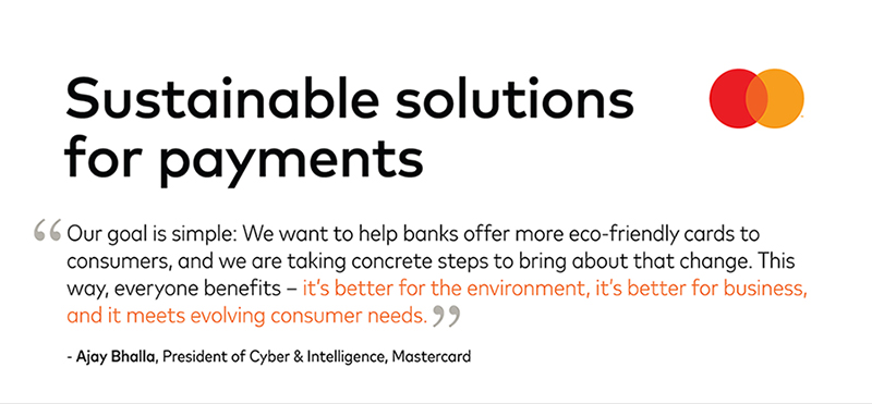 Sustainable solutions for payments - A